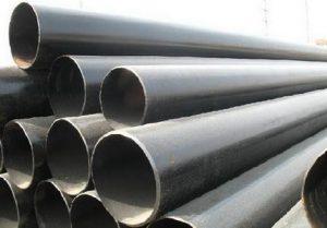 exposed black steel water pipes
