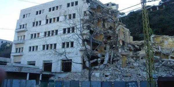 tanios hotel demolition aley 2008