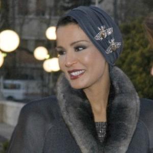 sheikha mozah in grey