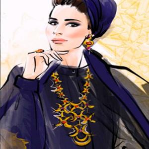 sheikha mozah drawing