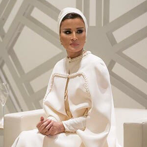 sheikha mozah in white