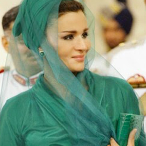 sheikha mozah in green